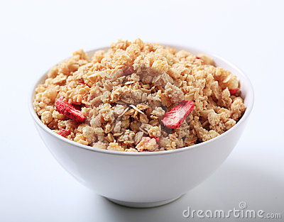 Bowl of crunchy granola