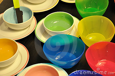 Bowl, dishes in different color