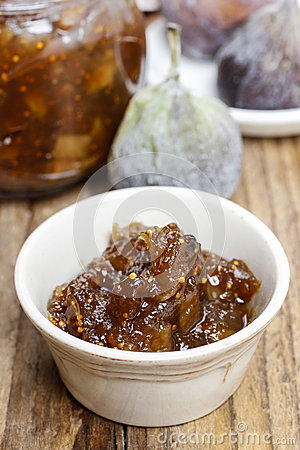 Bowl of fig jam
