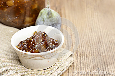 Bowl of fig jam
