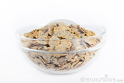 Bowl with flakes