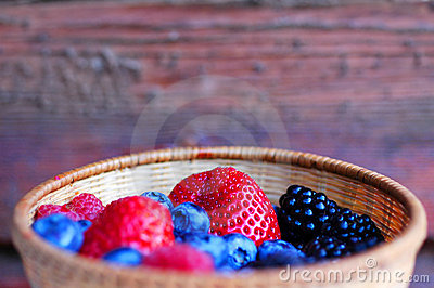Bowl with forest fruits