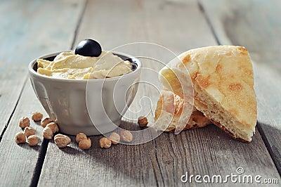 Bowl of fresh hummus
