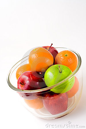 Bowl of Fruit (Apples and Oranges)