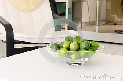 Bowl of fruit in home
