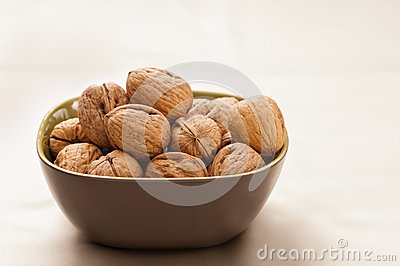 Bowl of giant organic walnuts
