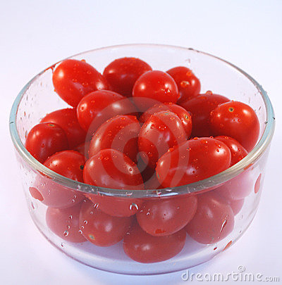 Bowl of grape tomatoes
