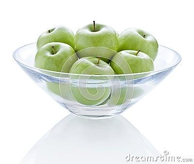 Bowl Green Apples