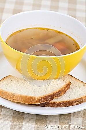 Bowl of green bean soup