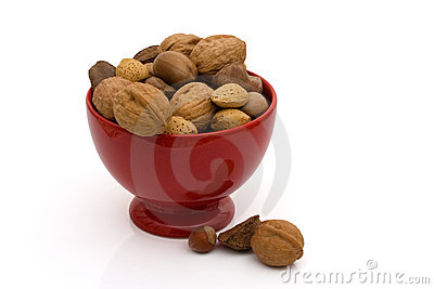 A bowl of healthy mixed nuts