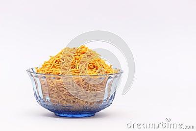 Bowl of Indian snacks food