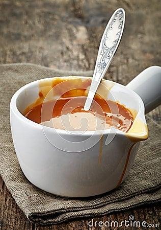 Free Bowl Of Caramel Sauce Royalty Free Stock Image - 48032656
