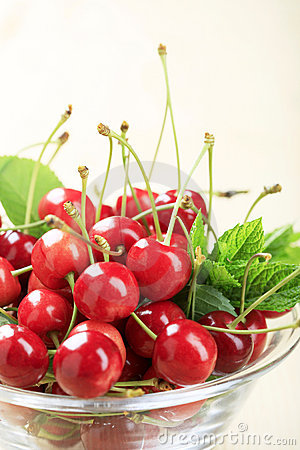 Free Bowl Of Fresh Cherries Stock Photo - 10430730