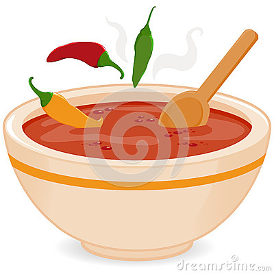 Free Bowl Of Hot Chili Soup Stock Images - 46622354