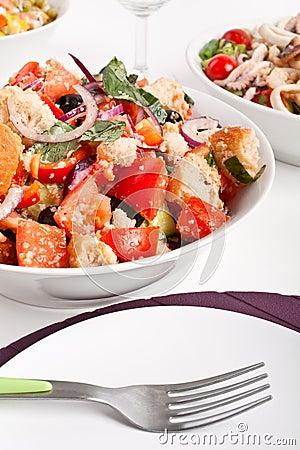 Free Bowl Of Panzanella Bread Salad Royalty Free Stock Photos - 7922498