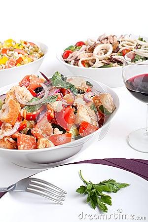 Free Bowl Of Panzanella Bread Salad Stock Photo - 7922500