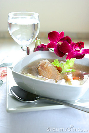 Free Bowl Of Wholesome Chicken Soup Royalty Free Stock Photography - 4146717