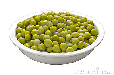 Bowl of Peas (with clipping path)