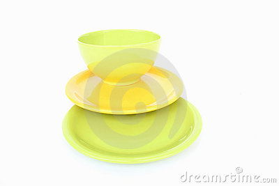 Bowl with plates