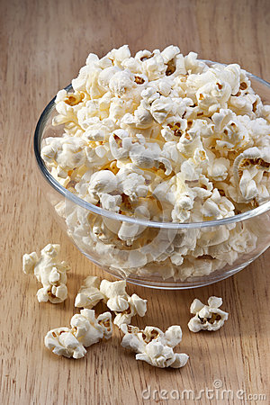 Bowl Popcorn Snack Food