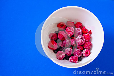 Bowl of fresh mixed berries