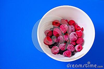 Bowl of fresh mixed berries