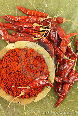 Bowl of red chili powder
