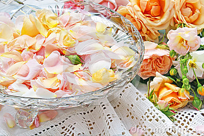 Bowl of Rose Petals
