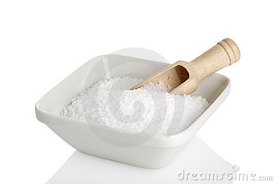 Bowl of sea salt