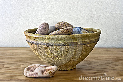 Bowl of pebbles