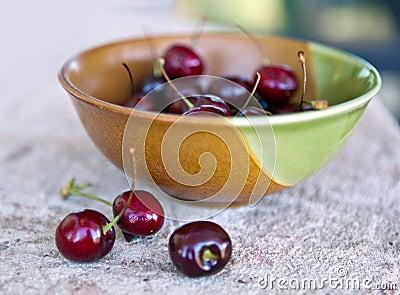 Bowl of Summer Cherries