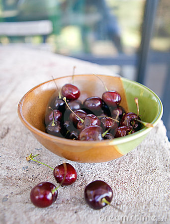 Bowl of Summer Cherries