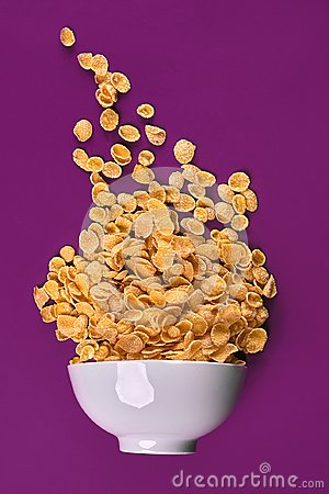 Free Bowl With Cornflakes On The Colorful Background Stock Photography - 108466262