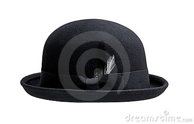 Bowler hat isolated on white