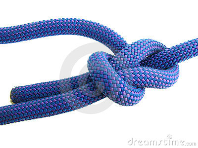 Bowline knot in climbing rope