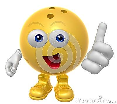 Bowling ball 3d mascot figure