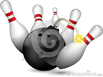 Bowling ball bomb
