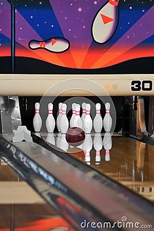 Bowling - Ball reaching Pins Vertical