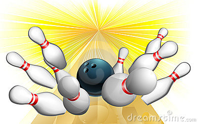 Bowling ball strike