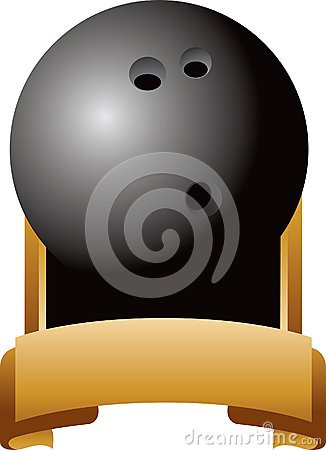 Bowling ball trophy