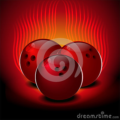 Free Bowling Balls On A Red Background. Royalty Free Stock Image - 85419536