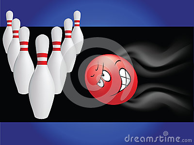 Bowling with cartoon ball