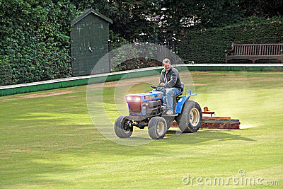 Bowling green maintenance Editorial Photo