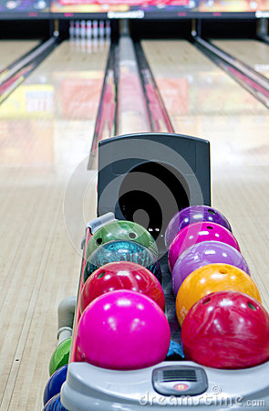 Free Bowling Lane Stock Photo - 26304170