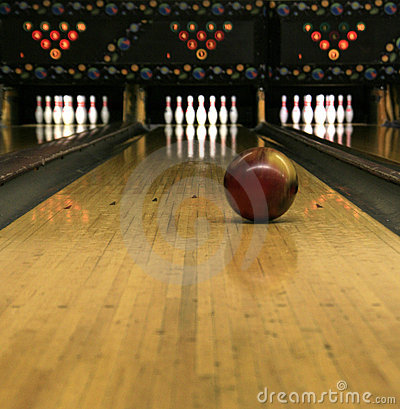 Bowling Lanes Rolling Bowling Ball Stock Image Image