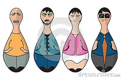Bowling pin people
