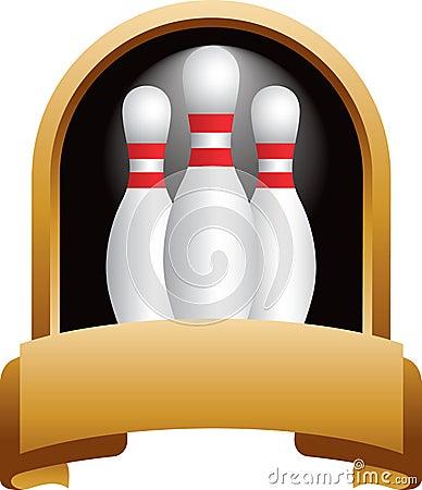 Bowling pin trophy