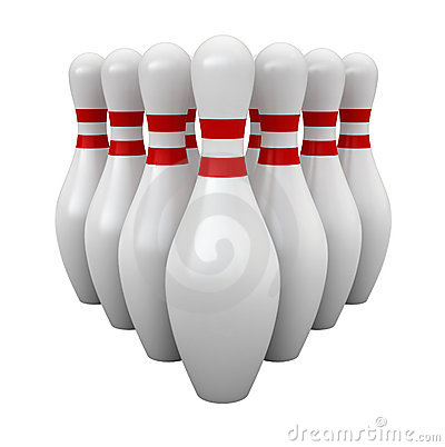 Free Bowling Pins Stock Photography - 23014652