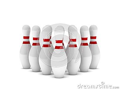Bowling pins row