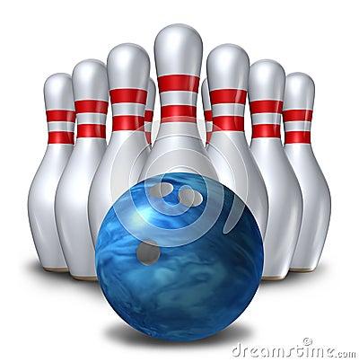 Bowling pins ten pin ball set bowl symbol
